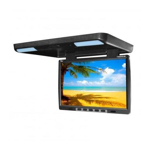 "Tview T154DVFDBK 15.4"" Flip Down Monitor with built in DVD, IR/FM trans, Black"