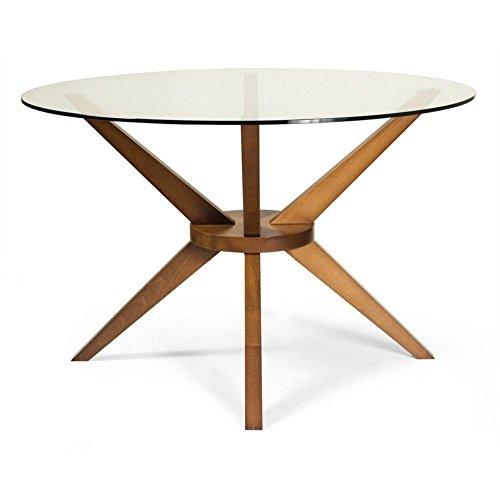 AEON Furniture Beechwood Bianca Dining Table in Walnut (Beechwood Dining Table)
