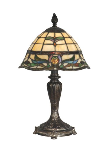 Dale Tiffany TT10087 Tiffany Table Lamp, Fieldstone and Art Glass Shade