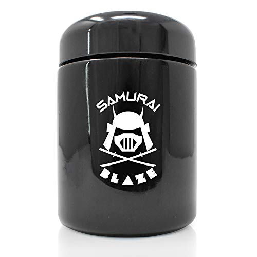 SAMURAI BLAZE STASH JAR for Weed and Herbs UV, Smell Proof for Dank Odors (250ml)