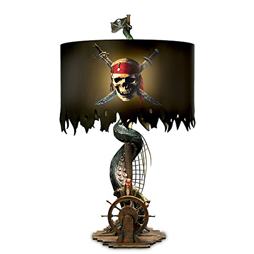 The Bradford Exchange Disney Pirates of The Caribbean Jack Sparrow Lamp with Kraken