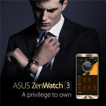 Asus Zen Watch 3 [WI503Q-2RBGE0015] 1.39'' Android Silver Face with Beige Rubber Strap by Asus (Image #1)