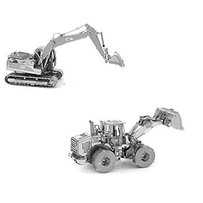 Metal Earth Fascinations Cat Excavator E Wheel Loader Original Puzzle In Metallo 3d Giocattoli Da Costruzione Modelli Di Taglio Laser