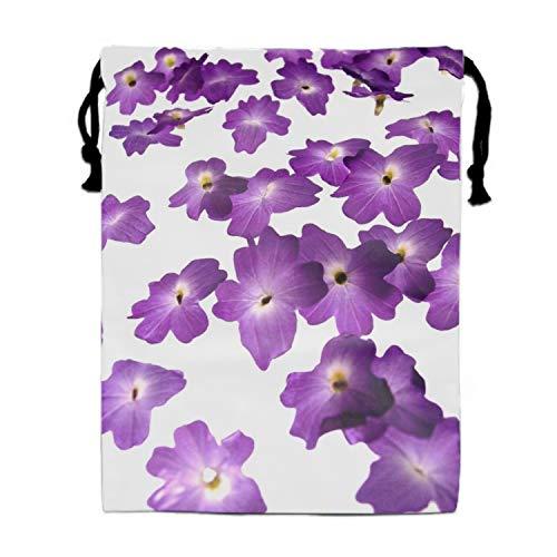 Price comparison product image Unisex Flower Puple Rain Drawstring Bag Drawstring Backpack Sport Bag Gym Bag
