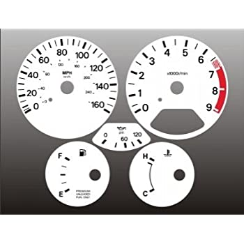 1990-1991 Nissan 300zx Z32 NON TURBO White Face Gauges