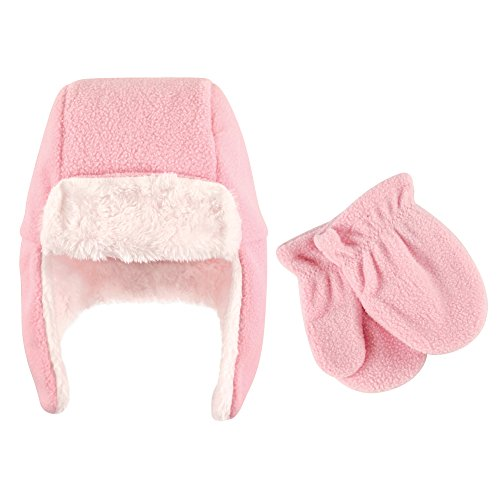 ece Trapper Hat and Mitten Set, Light Pink, 2T ()