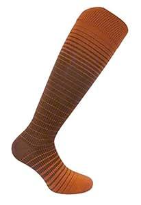 Travelsox Womens Compression Socks TS0967 Shade, Ladies Silver Drystat Dress, Travel, Play, Rust, Small