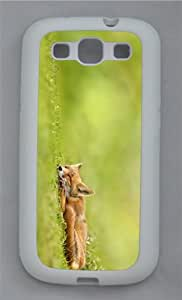 indestructible covers sleeping fox TPU White case/cover for Samsung Galaxy S3 I9300