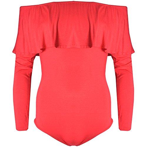 Verso Fashion - Camiseta de manga larga - para mujer Rosso
