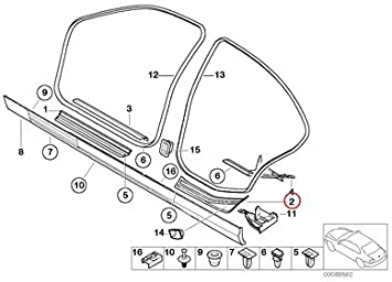 BMW Genuine Edge Rocker Covering Rear Right Entrance Cover Black 320i 323i 325i 325xi 328i 330i 330xi