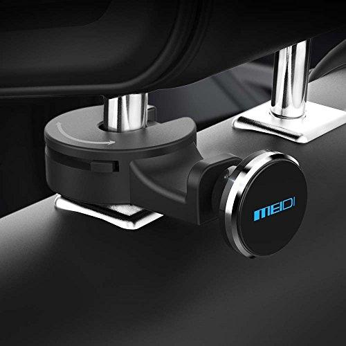 Headrest Mount MEIDI Car Backseat Purse Hanger Hook Universal Tablet Headrest Mount Organizer Magnetic Phone eReader iPad Holder (Silver) (For Backs Bar Sale)