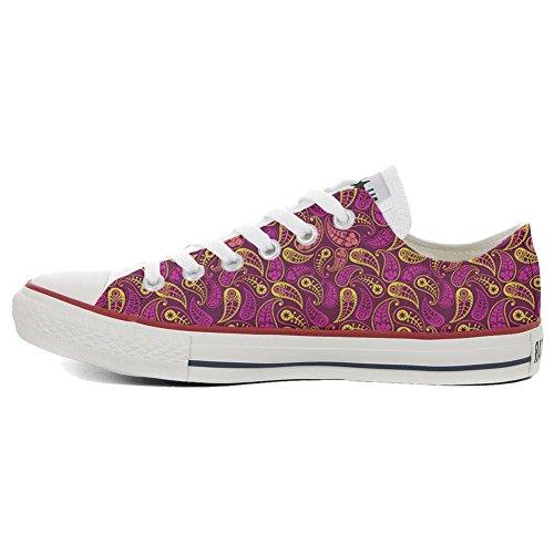 Artisanal All produit Decor Sneaker Converse Imprimés Et Star Personnalisé Italien Paisley Unisex Low TBwqvRd