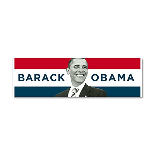 - CafePress - Barack Obama (Red, White Blue with Image) Car Magn - Car Magnet 10 x 3, Magnetic Bumper Sticker