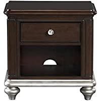 Pulaski 8688-450 Glamour Youth Nightstand with Built In Outlet and Dark Cherry Finish
