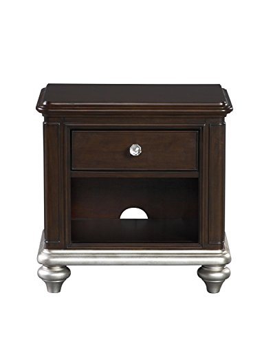 Pulaski Cherry Table - Pulaski 8688-450 Glamour Youth Nightstand with Built In Outlet and Dark Cherry Finish