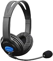 Fone de ouvido estéreo para jogos com fio Hi-Fi da Cewaal Superbass com microfone para Sony PlayStation 4 PS4