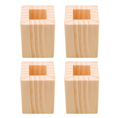 Yibuy 4PC 5CM Lift Height Furniture Table Lifter Bed Riser for 3cm Square Feet by Yibuy (Image #5)