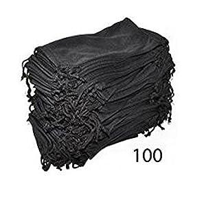 Eyeglasses Pouches Case Bag Black 6, 12, 24,100, 2000 PCS (Black, 100 PC)