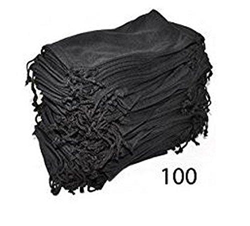 Eyeglasses Pouches Case Bag Black 6, 12, 24,100, 2000 PCS (Black, 100 PC) by moda