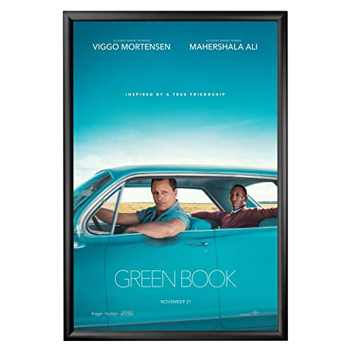 SnapeZo Movie Poster Frame 24x36 Inches, Black 1.2 Inch Aluminum Profile, Front-Loading Snap Frame, Wall Mounting, Premium Series