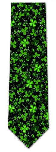 KissTies Mens Extra Long Tie Paisley Pattern Necktie + Gift Box (63'' XL) (Green Black 2) - Formal Pattern Necktie