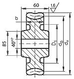 Precision worm wheel centre distance 100mm i=107