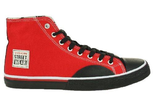 Vision Street Wear Schuhe Canvas High red/black Gr. 47