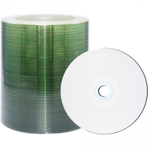 CMC Pro - Powered by TY Technology 48X White Inkjet Hub Printable CDR 80Min/700MB in 100 Pack ()