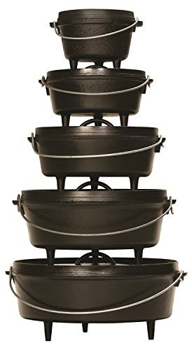 Lodge 8 Quart Camp Dutch Oven. 12 Inch Pre Seasoned Cast Iron Pot and Lid with Handle for Camp Cooking by Lodge (Image #5)