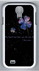 Samsung Galaxy S4 I9500 White Hard Case - Star Clover Galaxy S4 Cases