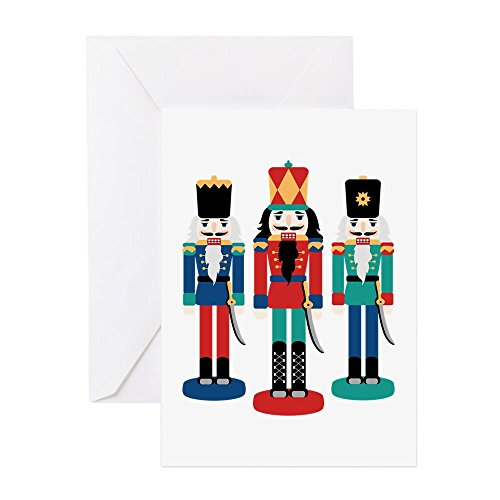 CafePress - Nutcracker Greeting Cards - Greeting Card (20-pack), Note Card with Blank Inside, Birthday Card Glossy