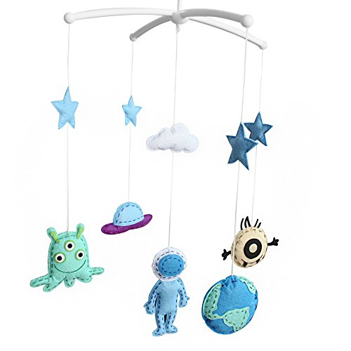 Stores Kong Toy Hong ([Outer Space] Unisex Baby Crib Bell, Cute Musical Mobile, Colorful)