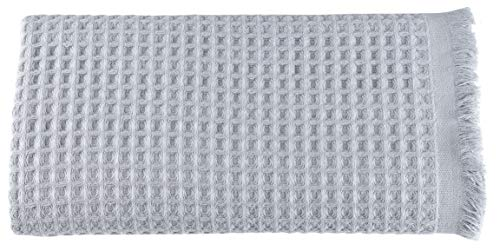 Arvec Turkish Waffle Weave Bath Sheet Towel, Bamboo & Turkish Cotton Blend, Ultra Soft Turkish Bath Towel 35'' x 70'' (Silver Grey)