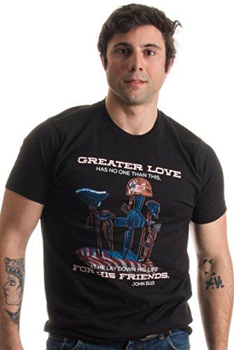 No Greater Love | Christian U.S. Military Sacrifice Bible Veteran Unisex T-shirt