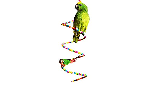 Anjing - Escalera de Juguete para pájaros, Loros, periquitos, cacatúas, Canarios, cacatúas, etc.: Amazon.es: Productos para mascotas