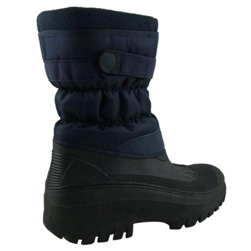 Groundwork - Bottes Wellies Mes Mucker Facile Fermer Stable Cour - Taille 38 - Bleu marine
