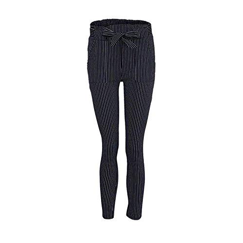 High Pantalone Bianca A Donna Lunghe Matita Ragazza Solidi Trousers Tunnelzug Slim Eleganti Colori Chic Waist Abbigliamento Autunno Pantaloni Primaverile mit Fit Fashion 1BXBqvxwnr