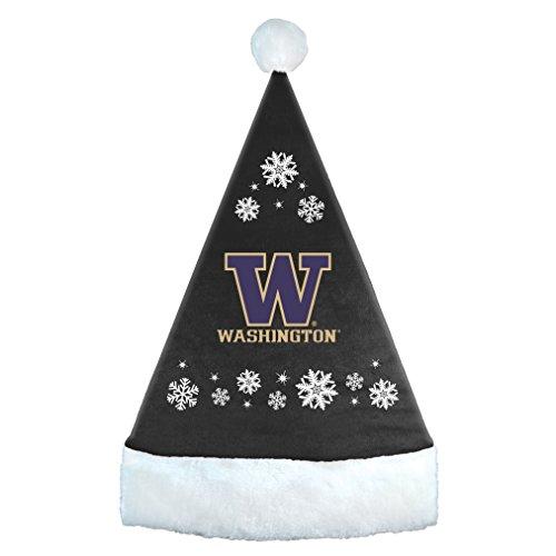 - NCAA Kansas State Wildcats Snowflake Santa Hat, Black, 17.25