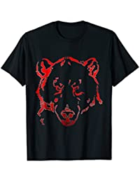 Grisly Bear Face Outline T-Shirt, Line Art T-Shirt, Bear Tee