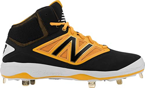 New Balance New Mens M4040BY3 Mid Metal Baseball Cleats Black/Yellow Size 16 M