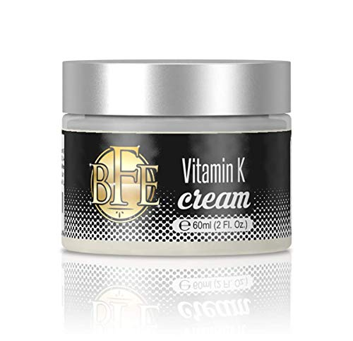 Vitamin K Cream- Moisturizing Bruise Healing Formula. Dark Spot Corrector for Bruising, Spider Veins & Broken Capillaries. Reduces Under Eye Dark Circles, Fine Lines, Puffiness, & Wrinkles. (Best Treatment For Broken Veins On Face)