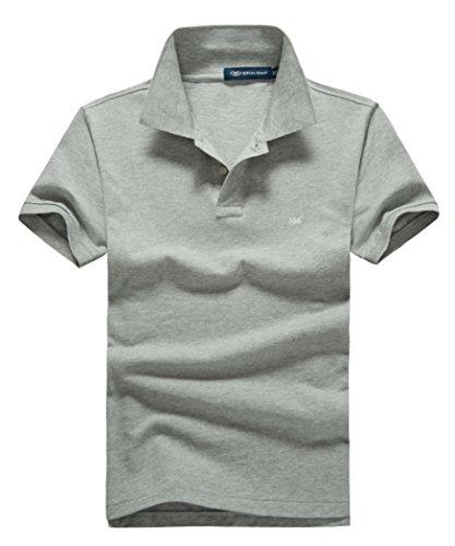 (シンアンドケン) sin&ken ポロシャツ メンズ シャツ 半袖 ポロ ゴルフウェア トップス … (M, グレー) [並行輸入品]