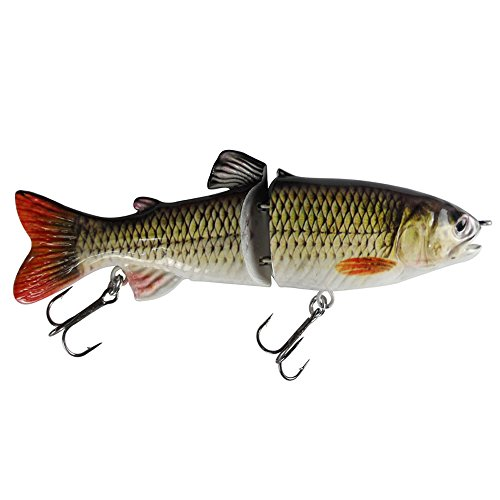 kachawoo Glide Swimbait Two Section S Curve Swimming 7 65g Jointed Fishing Lures Hunter for Bass Pike Muskie with Treble Hooks Tackle