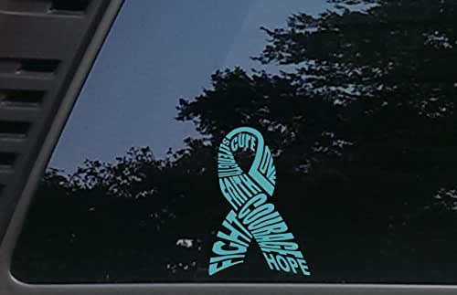 High Viz Inc Ovarian Cancer Awareness Ribbon in Teal - 3 3/4