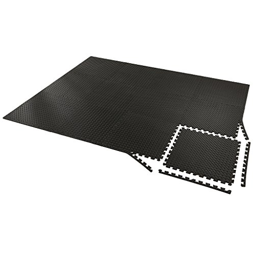 Zoeshare Puzzle Exercise Mat Thick Foam Interlocking Tiles Anti-Fatigue Protective Flooring Mat Borders Included for Gym Equipment and Cushion, Covers 48 ()