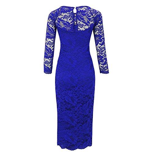 Kleid langarm royalblau