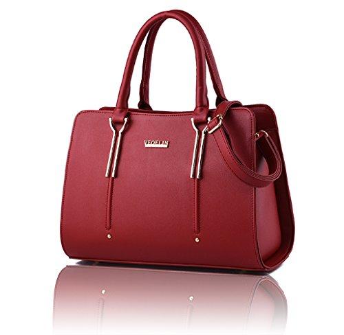 Red Satchel Handbags - 9