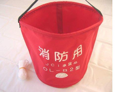小型船舶用 法定備品 オーシャン OL-B型 消防用赤バケツの商品画像