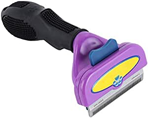 Pet Dog Cat Comb Hair Removal Shedding Cleaning Brush Grooming Tool- Purple