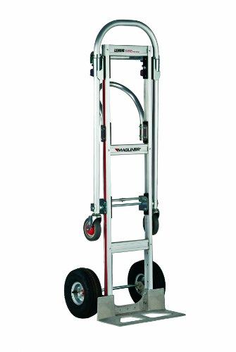 "Magliner GMK81UA4 Gemini Sr Convertible Hand Truck, Pneumatic Wheels, 500 lbs Load Capacity, 61"" Height, 55-3/4"" Length x 21"" Width from Magliner"
